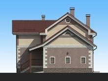Проект небольшого 2х этажного стильного коттеджа 130 m²