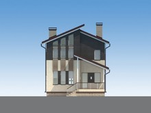 Проект уютного загородного дома 190 m²