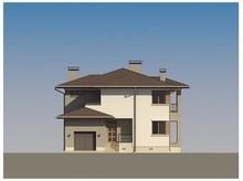 Удобно спланированный проект хай тек коттеджа с террасой