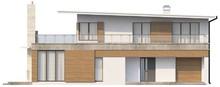 Стильный современный двухэтажный дом с плоской крышей с гаражом