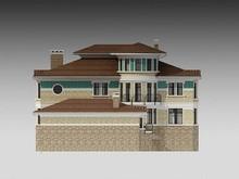Проект удобного загородного коттеджа с гаражом и бассейном