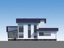 Архитектурный проект недорогого в строительстве 2х этажного коттеджа