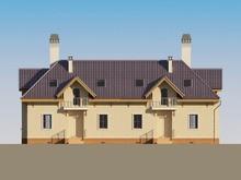 Архитектурный проект классического коттеджа с мансардой
