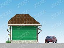 Проект практичной сторожки с гаражом для 1 машины