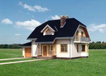 Проект небольшого особняка 180 m² с мансардой