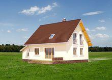 Проект интересного загородного дома с террасой