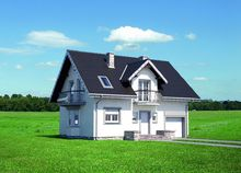 Проект загородной усадьбы с мансардой площадью до 150 m²