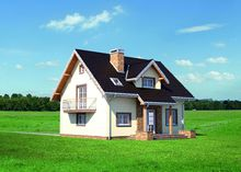 Уютный домик со встроенным гаражом