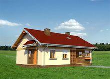Архитектурный проект оригинальной загородной усадьбы с эркером и крыльцом