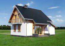 Проект небольшого загородного дома площадью 110 m²