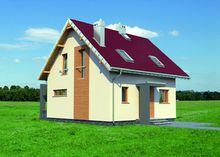 Маленький и стильный коттедж с большой кухней и гостиной