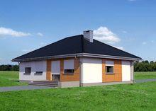 Одноэтажное строение на четыре комнаты