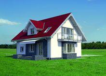 Проект оригинального загородного коттеджа с шестью спальнями