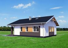 Маленький загородный дом с площадью 80 m²