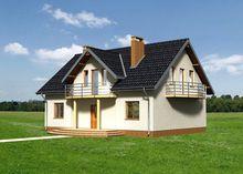 Проект стильного особняка с площадью 180 m²