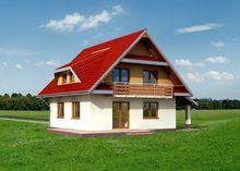 Проект замечательного дома со светлыми комнатами