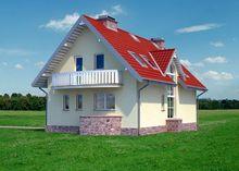 Двухэтажный жилой дом интересного дизайна