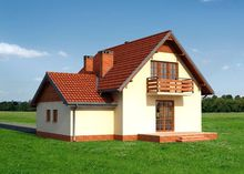 Стильный коттедж с площадью больше 150 m² для небольшой семьи