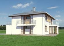 Красивый загородный дом с просторными комнатами
