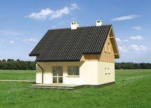 Проект симпатичного особняка с площадью 90 m²