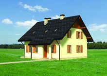 Архитектурный проект симпатичного двухэтажного коттеджа для небольшой семьи