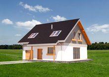 Архитектурный проект красивого коттеджа с четырьмя просторными комнатами