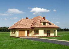 Красивый загородный коттедж с семью комнатами и кухней
