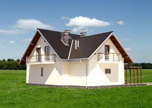 Стильный загородный коттедж с площадью 200 m²