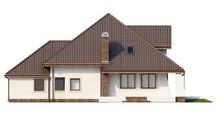 Симпатичный мансардный проект дома с балконом