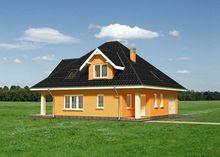 Проект скромной загородной усадьбы с пятью большими комнатами