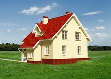 Проект небольшого загородного дома с небольшими и уютными комнатами