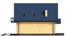 Уютный проект мансардного коттеджа