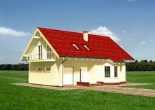 Привлекательный проект мансардного дома с эркером