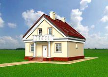 Традиционный проект небольшого дома с мансардой 9 на 10