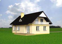 Образцовый дом с кабинетом и гаражом