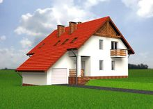 Изящный жилой дом с гаражом и просторной кухней