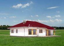 Одноэтажный коттедж с двумя верандами