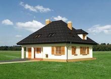 Двухэтажный особняк в приятных оттенках