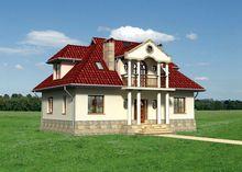 Помпезное строение с полукруглой гостиной