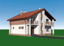 Величественный особняк с балконами и террасами