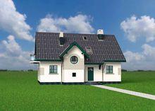Красочный жилой дом с необычным проектом гостиной