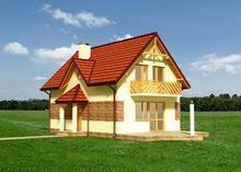 Небольшой коттедж с террасой и балконом