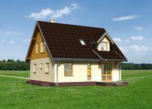 План жилого дома с пятью спальнями