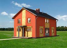 План загородного дома для узкого участка