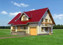1,5-этажный дом 180 m² с уютным крыльцом