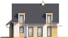Интересный проект мансардного коттеджа с фронтальным гаражом