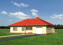 Уникальный дом с просторной круглой террасой