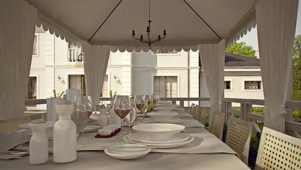 Проект особняка в дворянском стиле с баней