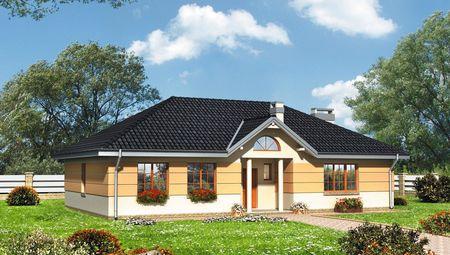 Красивый дом с колоннами и ярким декором