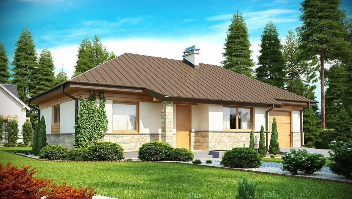 Проект компактного одноэтажного дома интересного дизайна